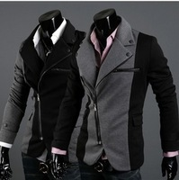 Free Shipping! New Fall Foreign Trade Retail.England Slim Knitted Cotton Suit.Hit Colors Fashion Men's Blazer.M-L-XL-XXL