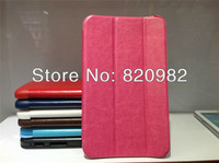 "Three Folds Top Quality Leather Stand Case For 7"" Tbalet Samsung Galaxy Tab3 T210"
