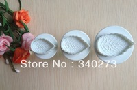 Free shipping 3PCS leaf cake cookies machine plunger paste sugar craft decorating tools