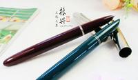 Hero pen 666 plastic rod steel bushing iridium fountain pen fountain pen large