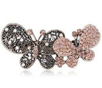 Free Shipping Sunshine store sparkling full rhinestone crystal bow hair accessory F090