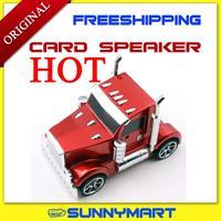 Free shippingcard speaker vintage car model mini speaker car model subwoofer earphones