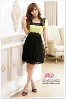 1151 Free shipping 2013 New Fashion women's Cute Chiffon  Dress Hight Quality wholesale and retail