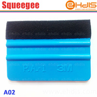 Free shipping A02 3M squeegee with felt car vinyl film wrap tools soft pp material and size 10x7.3cm