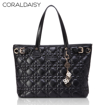 Coraldaisy New  2013   European&American Style  Diamond-shaped Texture  Shoulder Bag  Women Leather Handbags