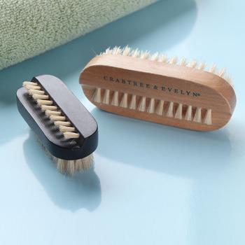 Double faced pig wool nail art tool finger brush dust brush bath brush