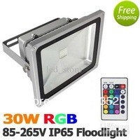 Free Shipping IP65 Waterproof 10W 20W 30W 50W 70W 100W Led Flood Light Warm White / White/ RGB Outdoor LED Floodlight Lamp