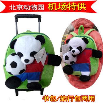 Longbo baby football trolley backpack child school bag child travel bag for birthday gift