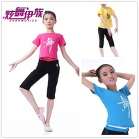 Latin dance performance female child formal dress o-neck short-sleeve leotard 6031 777