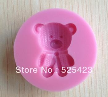 1PCS Lovely bear shape Chocolate Candy Jello 3D silicone Mold Cartoon Figre/cake tools Soap Mold Sugarcraft Cake Decoration