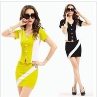 Quality elegant fashion stewardess uniforms the temptation to set sauna costumes ds costume