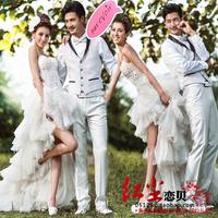 Clothing lovers clothes wedding dress formal dress train wedding dress set w88
