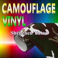 Camouflage PVC Wrap Decal 1.52*30M Air Bubbles