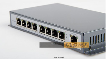 Wholesale SIP-POE108 8 Ports 10/100Mbps Ethernet Power Switch Network Switche 8CH PoE Power Supply Switch CCTV poe switch 8 port