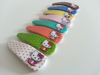 hello kitty hair accessories dot hair barrette girl hello kitty headband more colors 120pcs/lot free shipping
