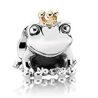 925 Silver Bead Frog prince European charms Compatible with Snake chain charm Bracelets Free shipping