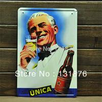 20*30cm BAR Tin Sign Beer Ads Poster Metal Wall Decor Iron Painting UNICA Brand Sign Pub Decor Door Decor