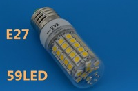 E27 85-265V 9W Cold white / Warm White  220V 360 Degree 5050 SMD 59Led Light Bulb Lamp Energy Saving