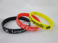 League of Legends wristband, silicon bracelet, custom design wristband. 100pcs/lot, free shipping