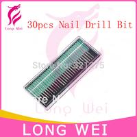 Free shipping/drop shipping 30pcs electric nail drill manicure bits&nail file drill bits set