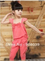 autumn 2013 lowest  price best quality the children's suits  clothes  for the girls set children's clothing