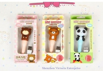 Massage & Relaxation Stick Massage Stick Hammer ; 12PCS Super Kawaii Mini USB Vibrate Rilakkuma Bear Body Relax Handle Massage