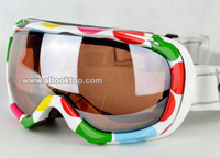 Snowmobile snow ski goggles double layer anti-fog 4 colors skiing glasses Men Women Snowboard googles day night vision christmas