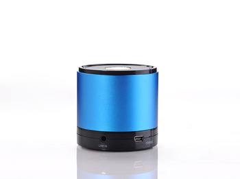 Bluetooth Speaker in with Rechargeable Li-ion Battery - Works with Any Bluetooth Enabled Tablet, Pc, Laptop and Smartphone(Blue)