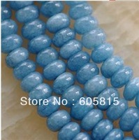 Natural 5x8mm Brazilian Aquamarine Gem Loose Beads 15""