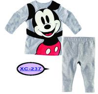 Kids Cartoon Minnie Mouse Pajama Sets Baby Boys Girls Fashion T Shirt Pants Pyjama Clothing Set Children Winter Pijama Infantil