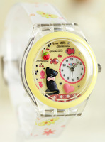 Fashion kuori child watch cat candy color supracrustal polymer clay cartoon watch