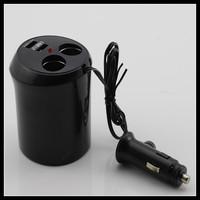 2 ways Car Cigarette Lighter Socket Splitter Charger with Dual USB port 12V/24V 2 Socket Car USB Port Adapter Accessories