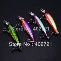 Free Shipping!!! 4pcs 7.5cm 6g Minnow Fishing Lures Baits