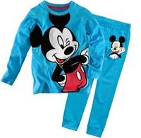 2015 Fashion Kids Pajama Long Sleeve Baby Clothing Sets Girls Boys Spring Winter Pijama Infantil Clothes Suit  Children Wear