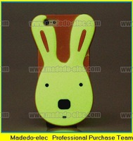 Cute 3D Noctilucent Rabbit Design Silicone Cases Cover for iphone 5