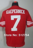 Free Shipping #7 Colin Kaepernick Men's Elite Football Jersey,Embroidery and Sewing Logos,Size M--3XL,Accept Mix Order