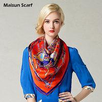 Hot Fashion Real Silk Women's Hijab Headband Large Square Scarf
