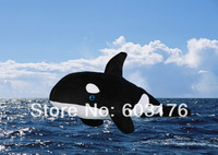 Free shipping. New 2013 arrived large size 76cm killer whale toy. Super soft and short plush, very cute!