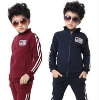 big children's clothing plough boys child casual set sports fashion male child boy suit