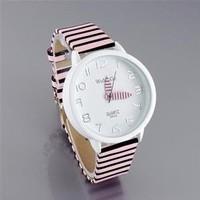 Christmas gift .Hot Selling Navy Stripe Elegant Ladies Watch Quartz Designer Kids Watch For Children Free shipping