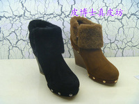 Short in size 3008 cow muscle boots full leather fashion outsole leather genuine leather
