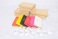 Wholesale 1pcs High quality Michael Zipper wallet Real leather case for iphone 5 5G/4G/4S & Galaxy S3/S4 All phone Free shipping