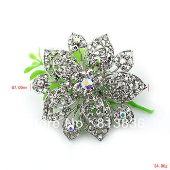 Free Shipping 6PC/Lot 2013 Fashion Rhinestone Flower Brooch Pins P878-008