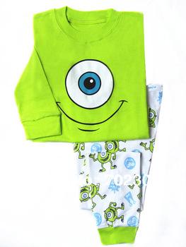 Retail  baby long sleeve Frog pattern t shirt + pants 2pcs baby  autumn pajamas baby clothing set  WX01