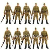 FreeShip Lot 10 Pcs Russian Soldiers Troopers Indiana Jones Figures W/10GUN L05