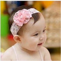Child baby hair accessory princess baby hair band hair accessory hair accessory tianzhao pearl flower  Free Shipping