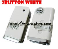 Fee Shipping  Flip Folding Remote Key Case for Toyota Camry Corolla Scion Tc Rav4 Yaris Reiz  white colour