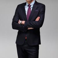 hot sale free shipping fashion 2013 men's work wear slim business suits navy blue S M L XL XXL XXXL