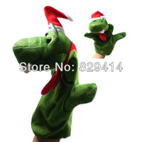 2013 Hot Selling Wholesales Price Plush Christmas Crocodile Hand Puppets 1pcs/lot 100% Short Plush Cute Stuffed Toys-D24