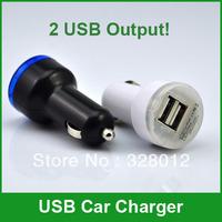 DHL FREE SHIP 100pcs/lot  Universal USB Car Chargers for  iPhone4 4S iPad2 iPad3, 2 USB Output